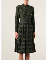 Céline Vintage Knitted Skirt Suit - Lyst