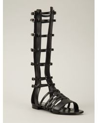 Saint Laurent 'Halston' Gladiator Sandals - Lyst