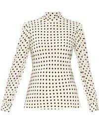 Clearance View Polka dot-print silk blouse Valentino Sale Finishline i7IT3