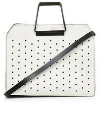 Topshop Premium Leather Boxy Shopper Bag - Lyst