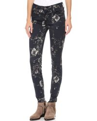 7 For All Mankind The Skinny Jeans Mystic Floral Print - Lyst
