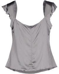 Emporio Armani Top gray - Lyst