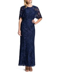 Cynthia Steffe Mara Halfsleeve Lace Maxi Dress - Lyst