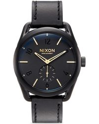 Nixon - 'the C39 Leather' Watch - Lyst