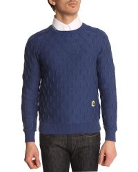 Carven Honeycomb Navy Sweater blue - Lyst