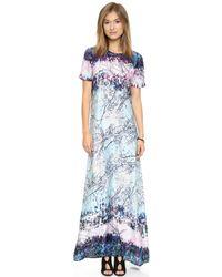 BCBGMAXAZRIA Alena Dress  Light Aqua Mist Combo - Lyst