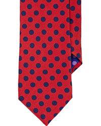Ted Baker Men's Polka Dot Satin Necktie - Red
