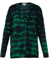Stella McCartney Tie-Dye Print Alpaca-Blend Cardigan - Lyst