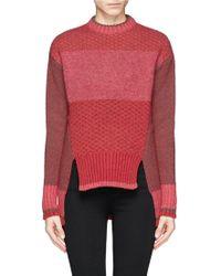 Prabal Gurung Slit Front Dip Hem Sweater - Lyst