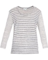 James Perse Collage Stripe Cotton-Jersey T-Shirt - Lyst