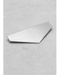 & Other Stories Brass Brooch - Metallic