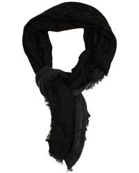 Armani Jeans Scarf 100x100 Jaquard Logo All Over - Lyst