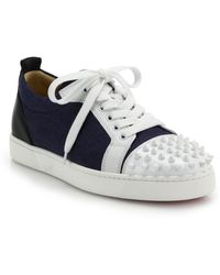 replica louboutin shoes for sale - christian louboutin Louis Spike sneakers Grey leather | The ...