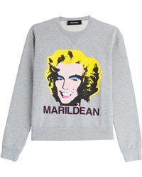 DSquared² Printed Sweatshirt - Lyst