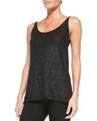Donna Karan New York Cashmere Easy Sequined Tank - Lyst