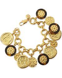 Tory Burch Shiloh Charm Bracelet - Lyst