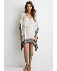 Forever 21 Tribal Print Poncho Dress - Lyst
