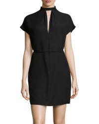 Valentino Cap Sleeve Slouchy Crepe Dress - Lyst