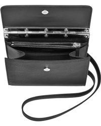 Jean Paul Gaultier Black Leather Mini Crossbody Bag