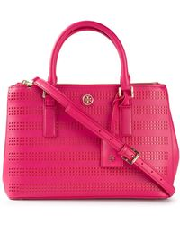 Tory Burch Perforated Tote - Lyst