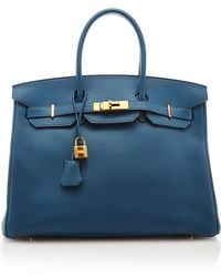 Heritage Auctions Special Collection Hermes 35Cm Blue De Galice Togo Leather Birkin - Lyst