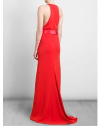 Stella McCartney Cut Out Crepe Gown with Detachable Belt - Lyst