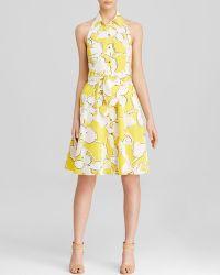 Diane von Furstenberg Dress - Tenner Floral Print Halter - Lyst