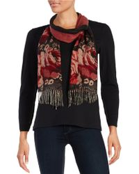 Lord & Taylor - Floral-accented Scarf - Lyst