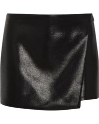 Narciso Rodriguez Black Glossed-wool Shorts - Lyst