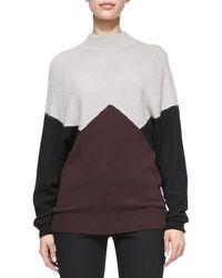 Jason Wu Long-sleeve Colorblock Pullover Sweater - Lyst