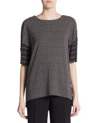 Costume National Dashed Diamond-Print Top - Lyst