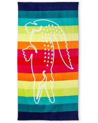 Lacoste Crocodile Stripe Beach Towel - Lyst