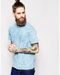 American Apparel Acid Wash T-Shirt blue - Lyst