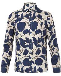 Burberry Prorsum Floralprint Cottonblend Shirt - Lyst