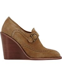 See By Chloé Wingtip Wedge Oxfords - Lyst