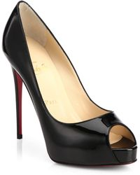 Christian Louboutin New Very Prive Patent Leather Peep-Toe Pumps - Lyst