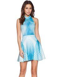 Ringuet Aurora Crepe Dress - Blue
