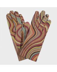 Paul Smith 'Swirl' Printed Leather Gloves - Lyst