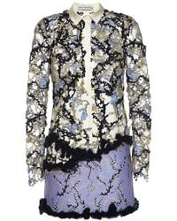 Mary Katrantzou Andre Embellished Dress With Collar - Lyst