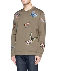 Valentino Butterfly Embroidered Sweatshirt - Lyst