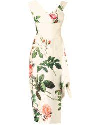 Vivienne Westwood Gold Label Prestige Floralprint Silk Satin Dress floral - Lyst