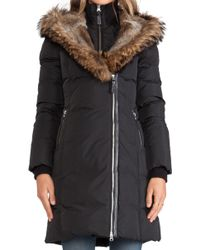 Mackage Trish Jacket with Asiatic Racoon and Rabbit Fur Hood - Lyst