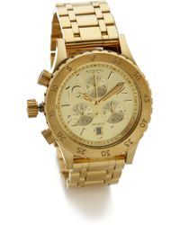 Nixon 38-20 Chrono Watch - Gold - Lyst