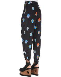 Stella McCartney Superhero-Print Harem Pants - Black