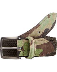 Barneys New York Braided Cord Belt brown - Lyst