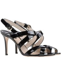 D&G Black Highheeled Sandals - Lyst