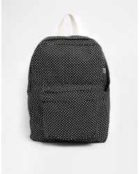 American Apparel Polka Dot Backpack black - Lyst
