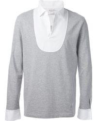 Michael Bastian Contrasting Collar and Cuffs Sweatshirt - Lyst