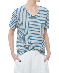Sea Mixed Stripe Tee blue - Lyst