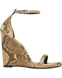 Saint Laurent Wedge Sandals - Lyst